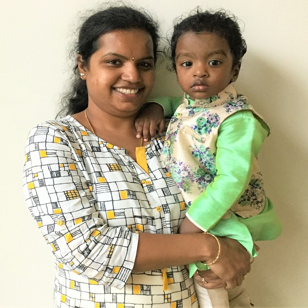 Swapna - Mother of Jathin Sai Chinni - Toddler Care